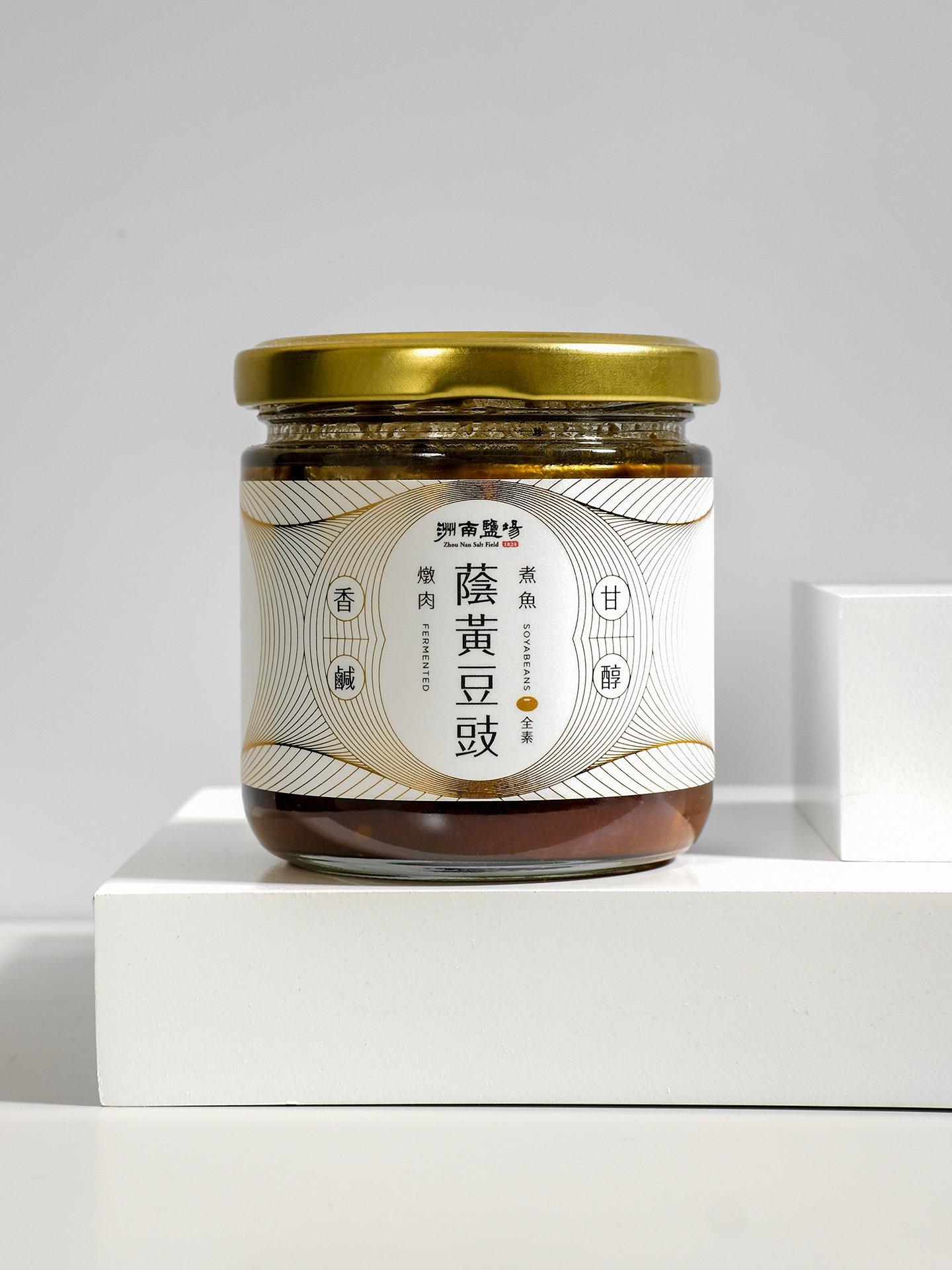 洲南鹽場 2020蔭黃豆豉罐裝包裝設計 2