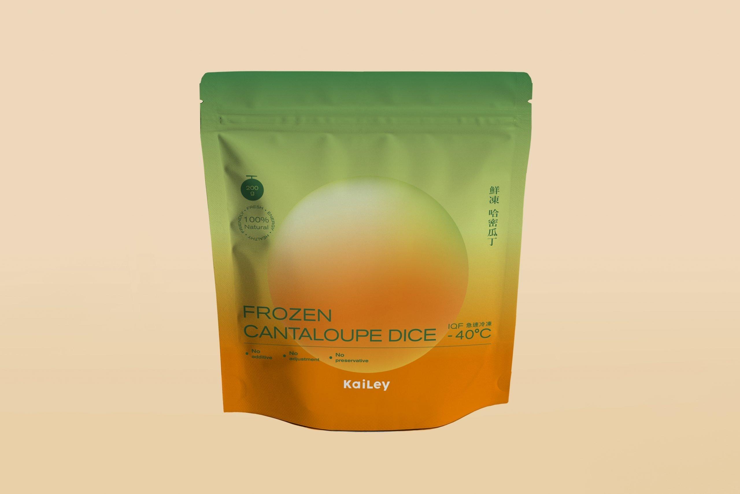塏立冷凍水果鮮食市場包裝設計-正面