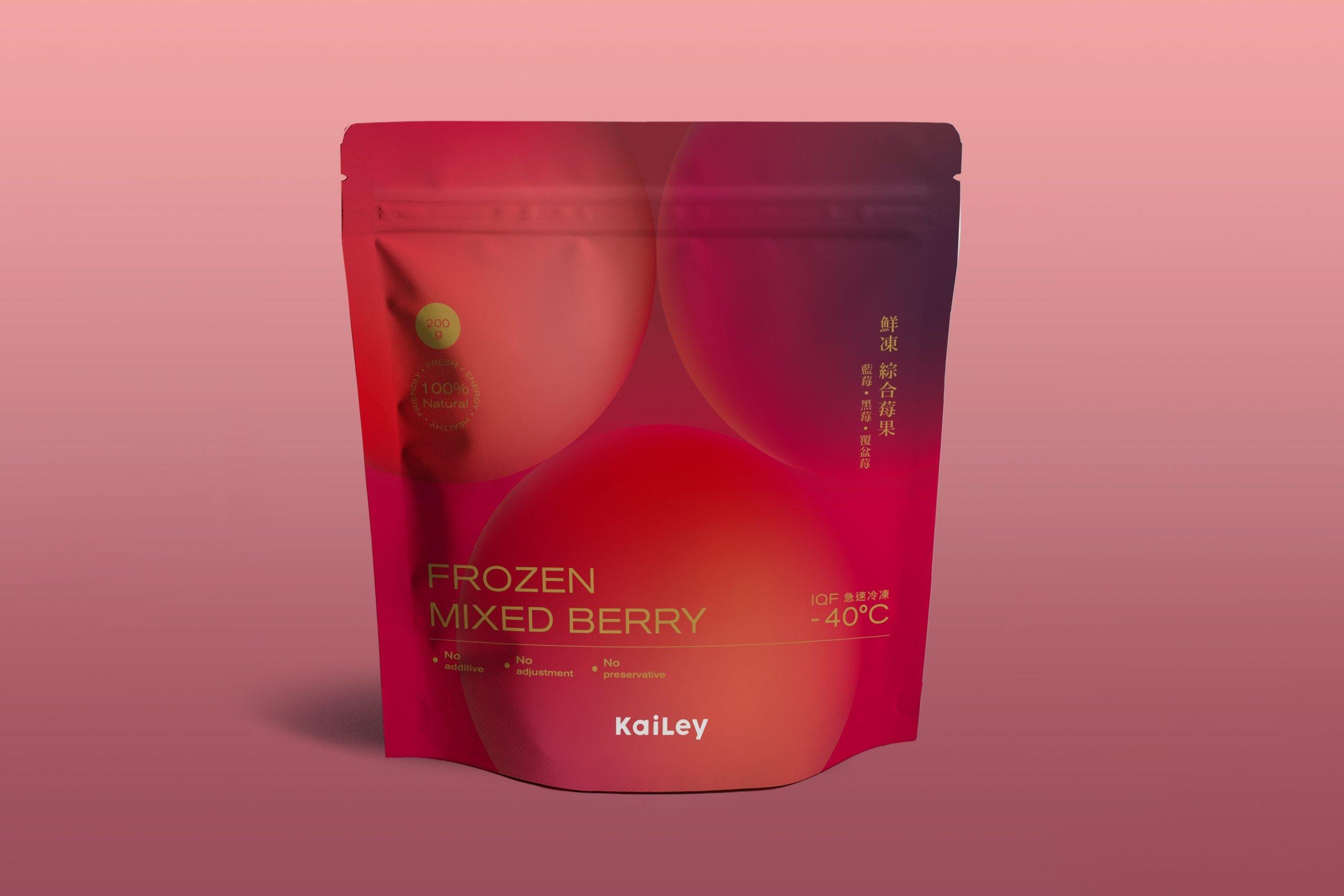 塏立冷凍水果鮮食市場包裝設計